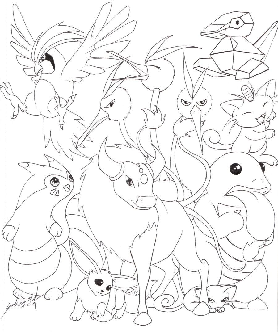 Pokemon all eevee evolutions coloring pages car interior for All pokemon coloring pages